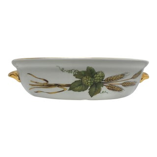 Late 20th Century Royal Worcester Evesham Baking Dish For Sale