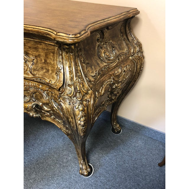Wood Italian Carved Giltwood Bombay Chest Commode For Sale - Image 7 of 13