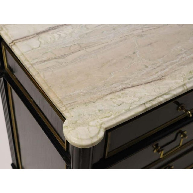 1950s Maison Jansen Attributed Ebonized Louis XVI Commode For Sale - Image 9 of 11