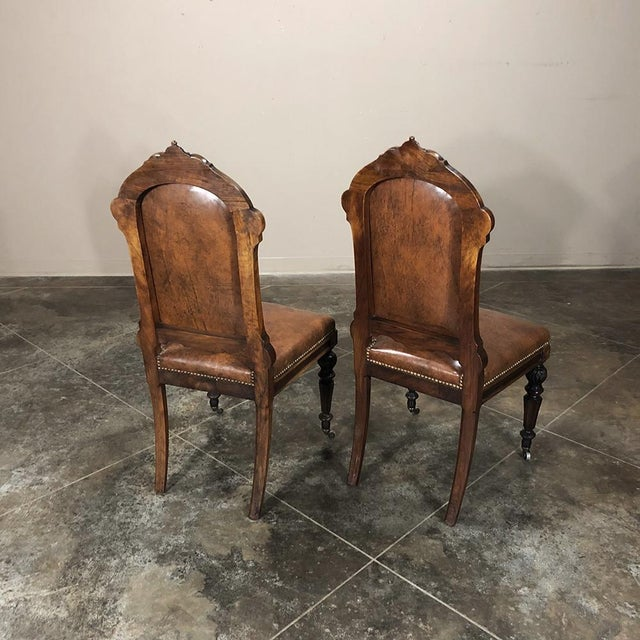 Set of Eight 19th Century French Walnut Dining Chairs For Sale In Dallas - Image 6 of 13