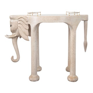 Marge Carson Elephant Bar Rolling Table