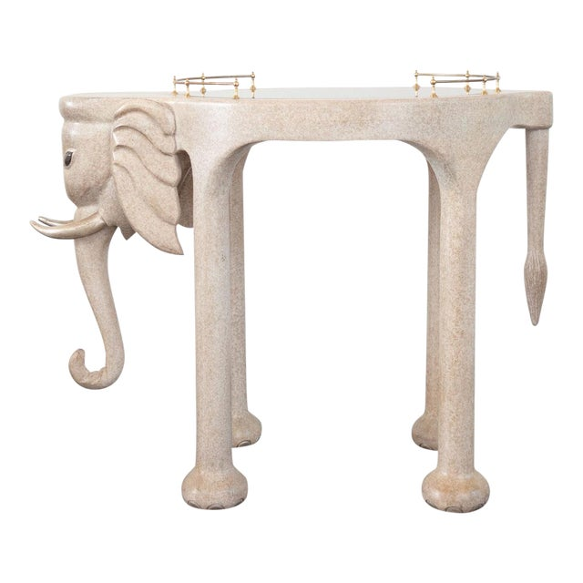 Marge Carson Elephant Bar Rolling Table For Sale