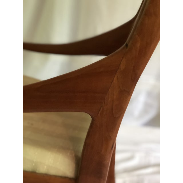 Mid-Century Modern Traditional Cherry and Walnut Rocking Chair For Sale - Image 9 of 13