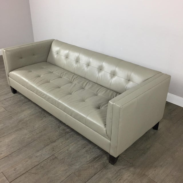 Z Gallerie Modern Tufted Sofa - Image 3 of 11