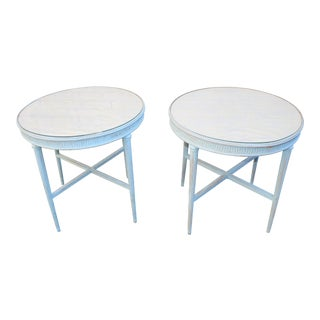 1940s Italian Excelsior Hotel Trieste Side Tables - a Pair For Sale