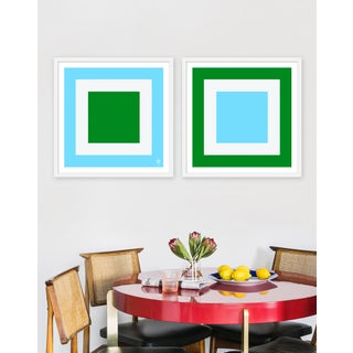 """Large """"Squared Ii, Set of 2"""" Print by Wendy Concannon, 50"""" X 25"""" Preview"""
