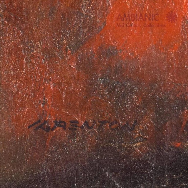 Mid-Century Modern Abstract Painting For Sale - Image 4 of 9