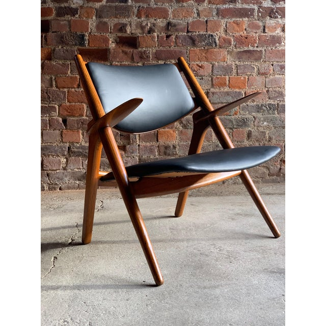 Black Hans Wegner Sawbuck Chairs Model CH-28 by Carl Hansen 1950s - A Pair For Sale - Image 8 of 13