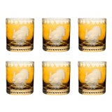 Image of ARTEL Staro Barnyard Turkey Small Tumbler Glass, Set of 6, Amber For Sale