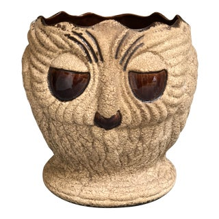 Mid Century Ceramic Owl Planter by Haeger For Sale