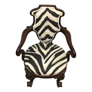 Animal Print Armchair For Sale