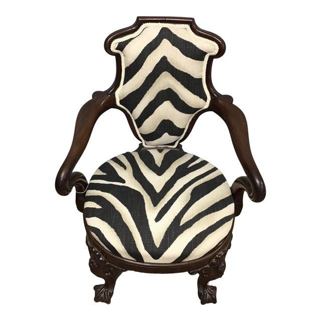 Animal Print Armchair For Sale