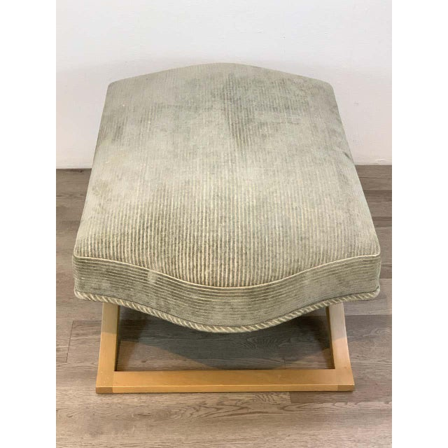 """Modern Angelo Donghia """"Versailles"""" Blonde Wood Bench/ Ottoman by John Hutton For Sale - Image 3 of 7"""