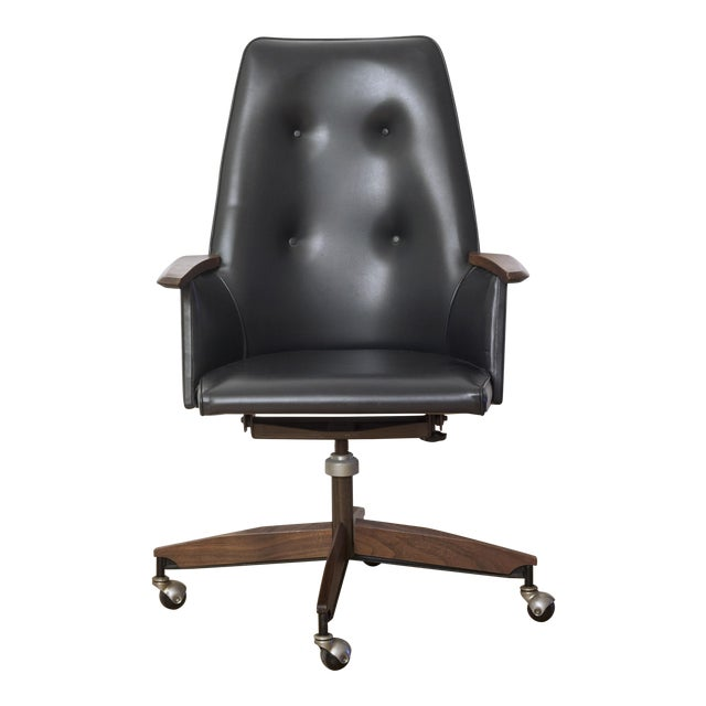 Mid Century Executive High Back Office Chair - Image 1 of 6