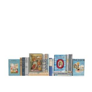 Vintage Stories for Girls in Blue : Set of Twenty Decorative Books