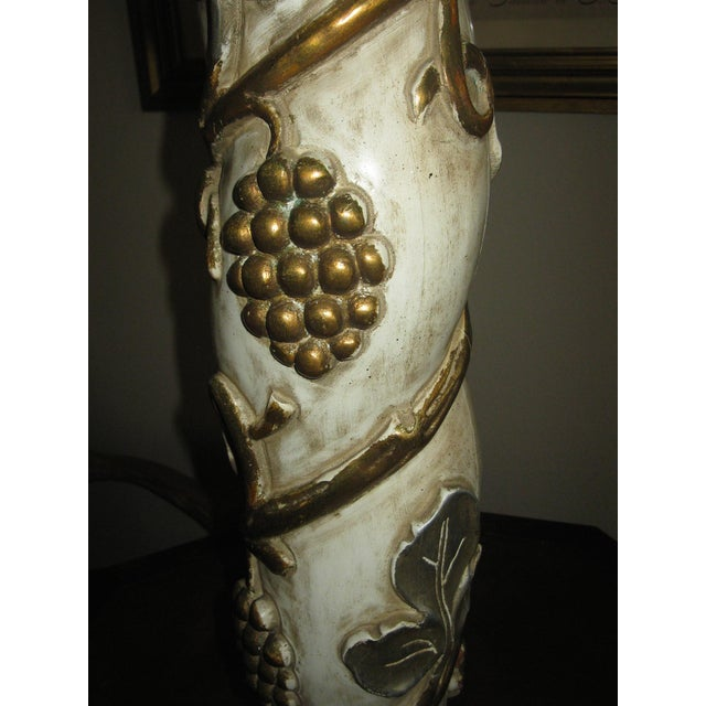 1960s James Mont Mid-Century Modern Gilt Gold & Silver Lamp For Sale - Image 5 of 7