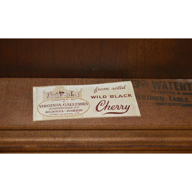 Wood Henkel Harris Solid Cherry Queen Anne Style Dining Table For Sale - Image 7 of 11