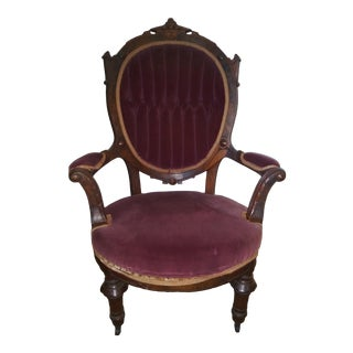 Late 19th Century Victorian Antique Chair For Sale
