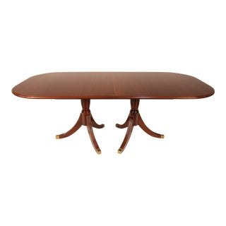 Regency Mahogany Dining Table With Two Extension Leaves