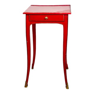 Louis XV Red Lacquered Side Table, France Circa 1780 For Sale