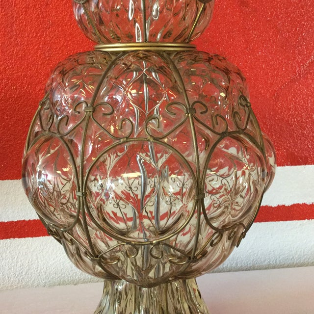 Murano Glass Lamp by Marbro Lamp Company - Image 4 of 6