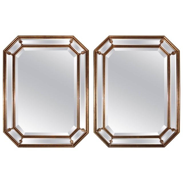 1950s Italian Gilt Octagonal Mirrors For Sale - Image 11 of 11