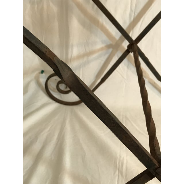 Antique Wrought Twisted Iron Table Base - Image 11 of 11