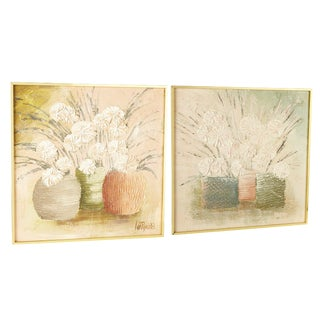 Pair Wall Art Paintings Signed Lee Reynolds For Sale