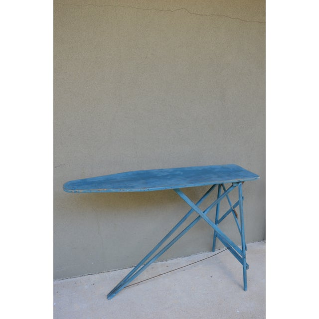 What a unique table, console, or bar idea! This antique wooden ironing board - Antique Painted Ironing Board Table Chairish