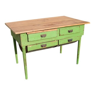 Victorria Painted Baker's Table For Sale