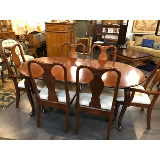 Universal Queen Anne Antique Cherry Dining Set - 8 Pieces Preview