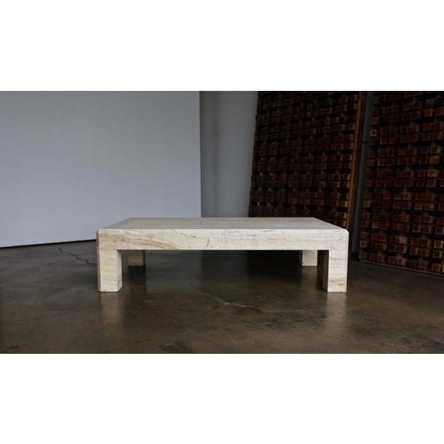 Travertine Coffee Table Circa 1980 For Sale - Image 13 of 13