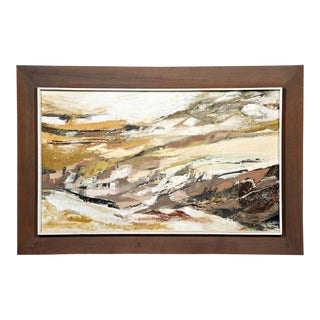 Margaret Smith Oil Painting Abstract Coastal Landscape For Sale