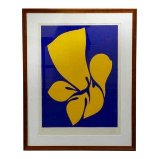 1970 Abstract Bold Screenprint by Jack Youngerman For Sale