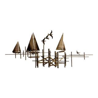 Curtis Jere Pier Wall Sculpture For Sale