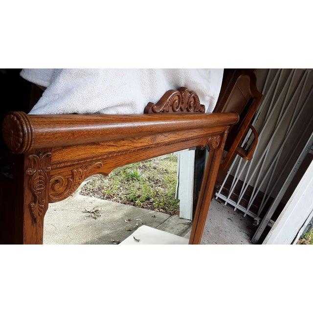 Wood Lexington Victorian Sampler Mirror Landscape For Sale - Image 7 of 8