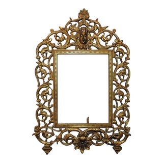 19th Century Victorian National Brass & Iron Works Picture Photo Frame For Sale