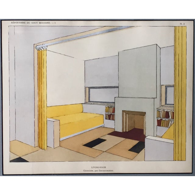 French Mid-Century Living Room Design Lithograph - Image 3 of 4