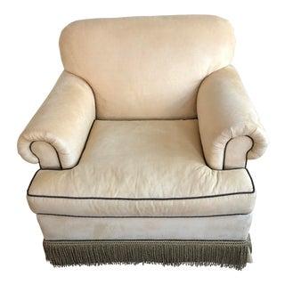 Baker Custom Upholstered Chair For Sale
