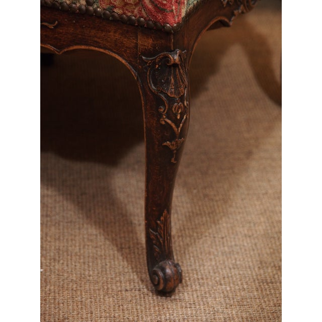 19th Century Walnut French Fauteuil For Sale In New Orleans - Image 6 of 9