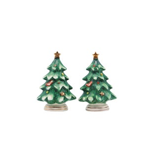 Mid Century Christmas Tree Salt & Pepper Shakers For Sale