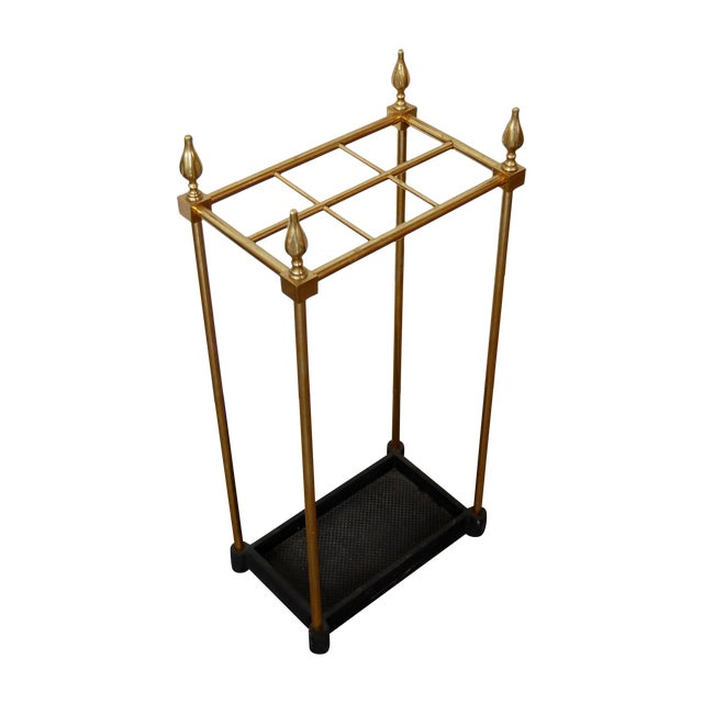 French Brass & Iron Umbrella Stand - Image 1 of 9