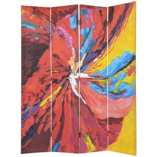Bold Colorful Double Sided Canvas Screen / Room Divider For Sale