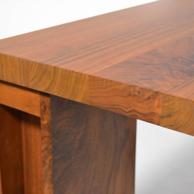 "Brown De La Espada ""Long"" Table in Black Walnut For Sale - Image 8 of 11"