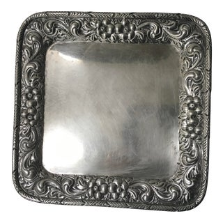 Early 20th Century Black Starr & Frost Stamped New York Sterling Silver Tray For Sale