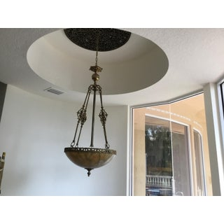 1960s Vintage Chandelier Made of Alabaster and Bronze Preview