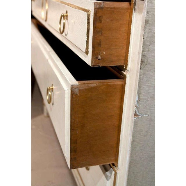 Maison Jansen French Marble-Top White & Gold Chest - Image 6 of 6