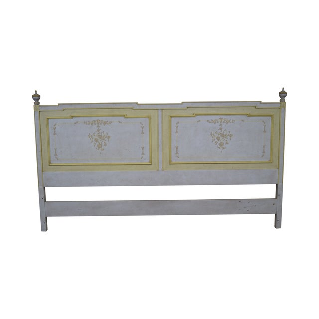Widdicomb Hand Painted French Style King Headboard - Image 1 of 10