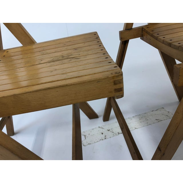 Vintage Wood Folding Chairs - Set of 3 For Sale - Image 4 of 13 - Vintage Wood Folding Chairs - Set Of 3 Chairish