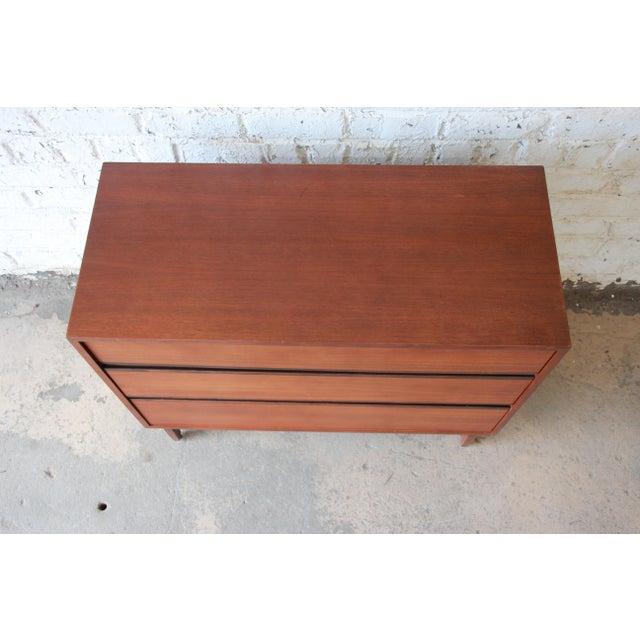 Kipp Stewart for Calvin Furniture Mid-Century Modern Walnut Bachelor Chest, 1950s For Sale - Image 9 of 12